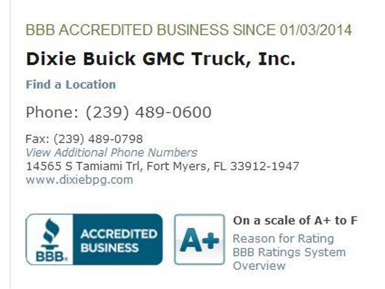 Dixie Buick Gmc Truck Inc Fort Myers Fl Cars Com