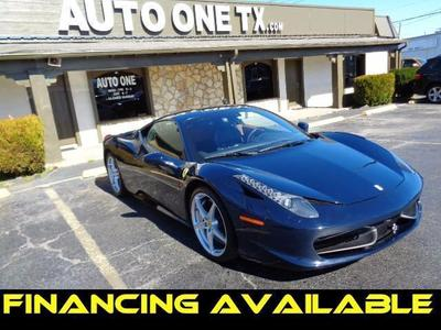 Used 2011 Ferrari 458 Italia Base