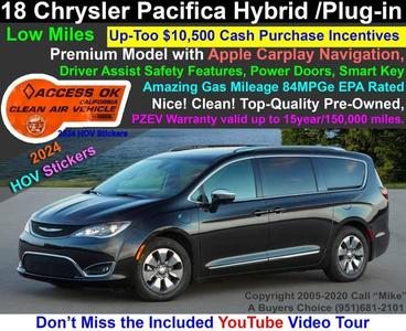 Used Chrysler Pacifica 2018 Riverside Ca
