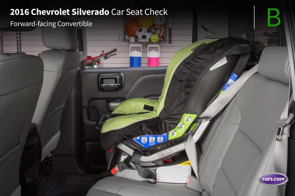 Cars With A Third Row >> 2016 Chevrolet Silverado Crew Cab: Car Seat Check | News | Cars.com