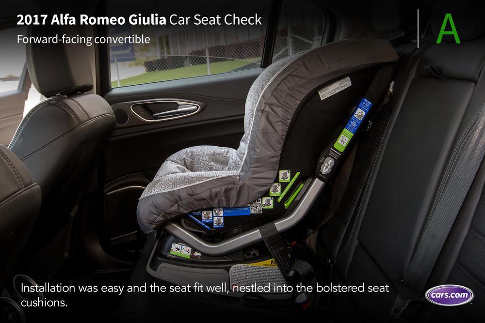 Check My Car Value >> 2017 Alfa Romeo Giulia: Car Seat Check | News | Cars.com
