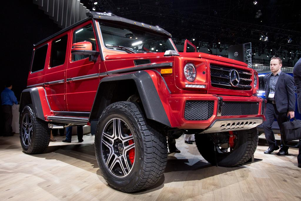 2017 mercedes-benz g550 4x4 squared review: photo gallery news
