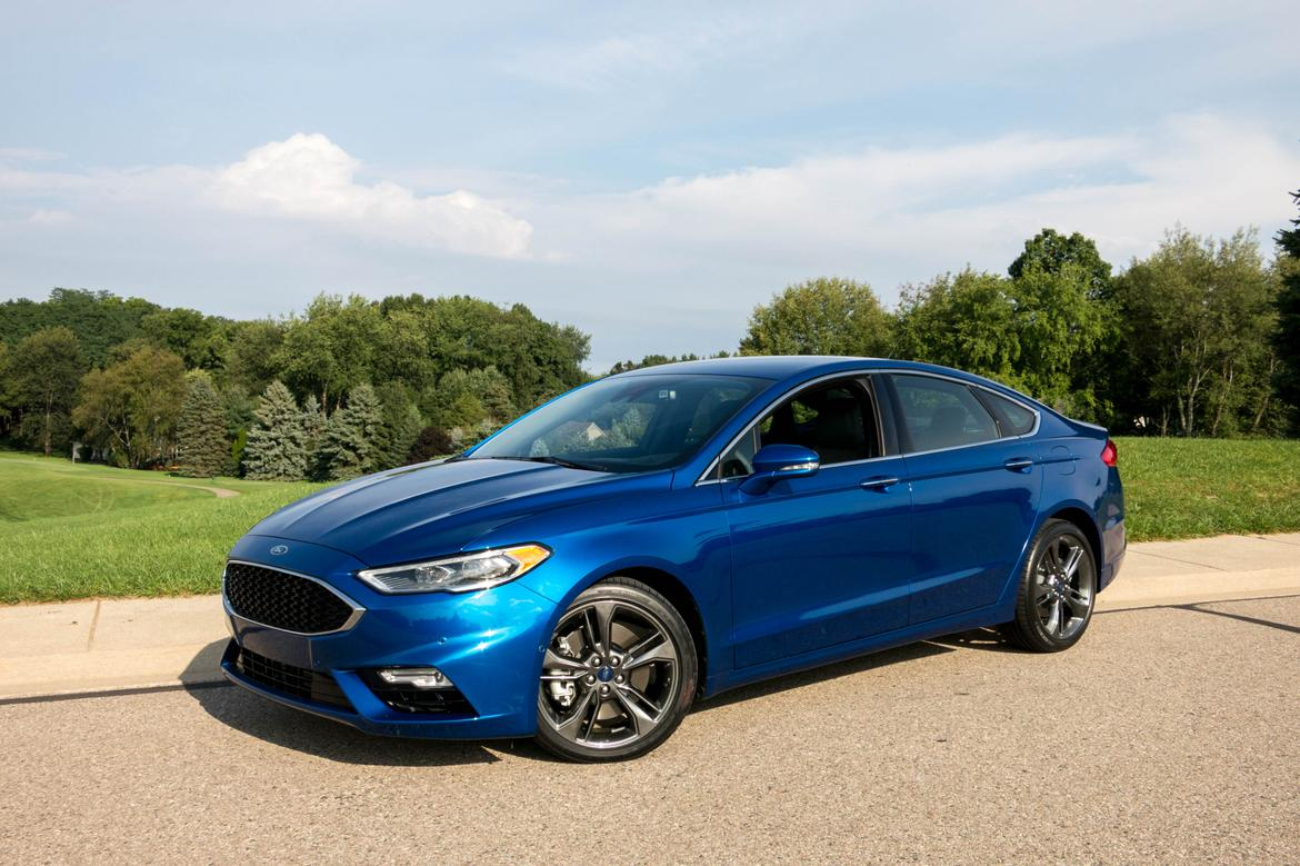 2017 ford fusion v 6 sport review first drive news cars com