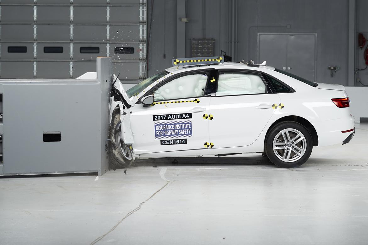 Audi A Earns Top Safety Score News Carscom - Car insurance for audi a4