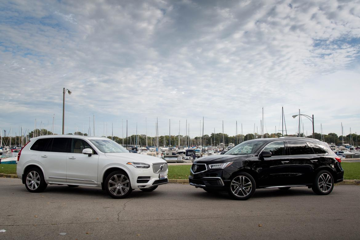 luxury suv road test: 2016 volvo xc90 versus 2017 acura mdx | news