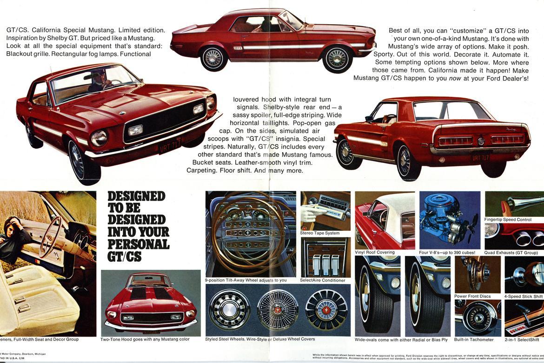 1968 Mustang GT-CS Brochure 2