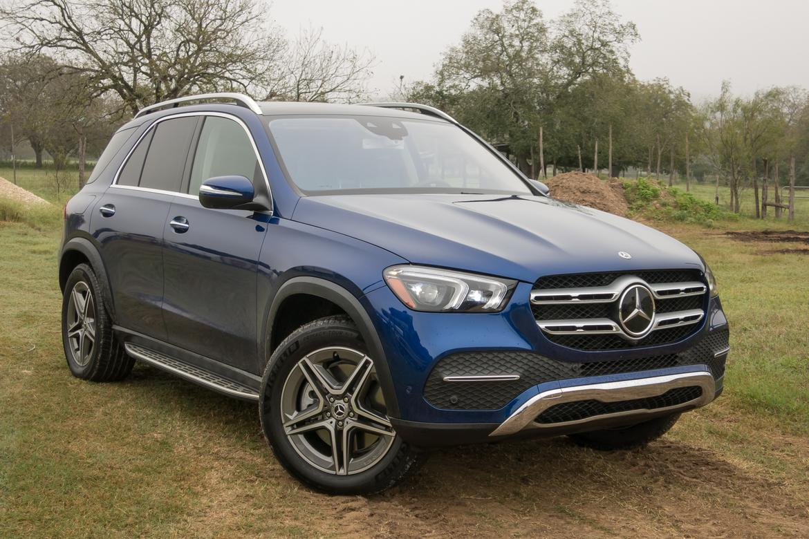 01-<a href=https://www.autopartmax.com/used-mercedes-engines>mercedes</a>-benz-gle-450-2020-angle--blue--exterior--front--outd