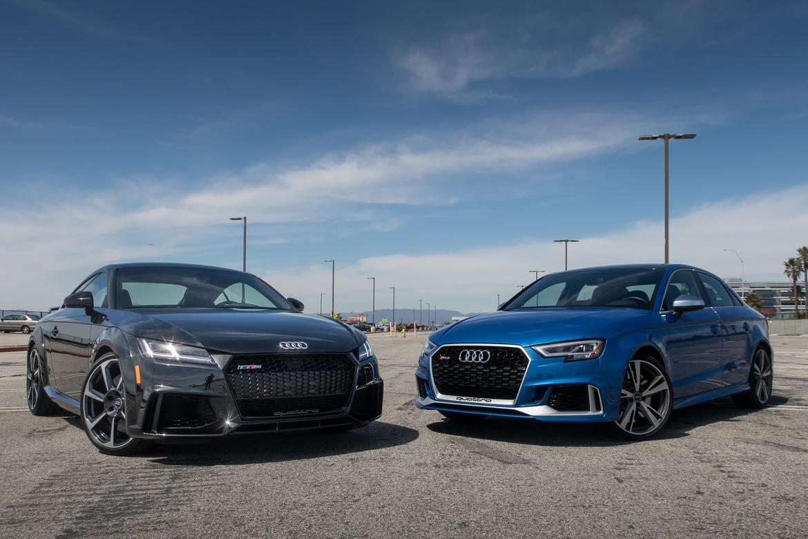 2017 audi rs 3 vs 2018 audi tt rs performance at a price news. Black Bedroom Furniture Sets. Home Design Ideas