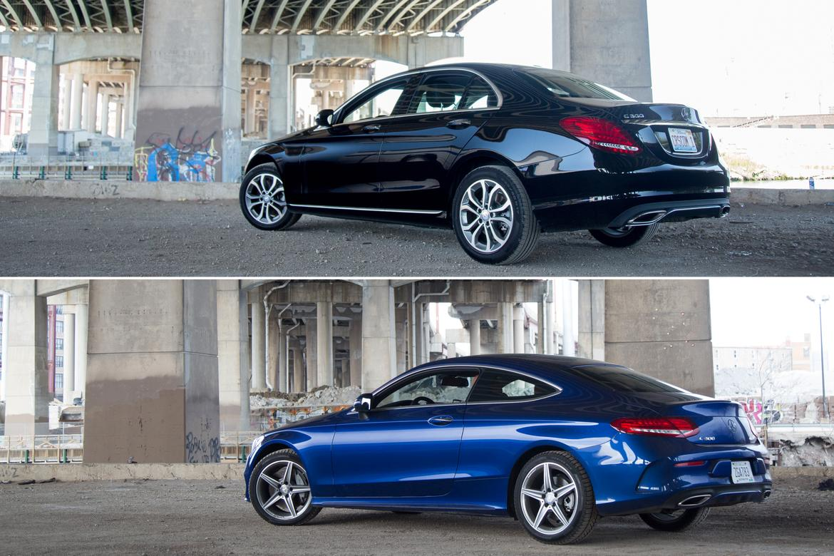 Coupe Vs Sedan >> 2017 Mercedes Benz C Class Coupe Vs Sedan Photo Gallery News
