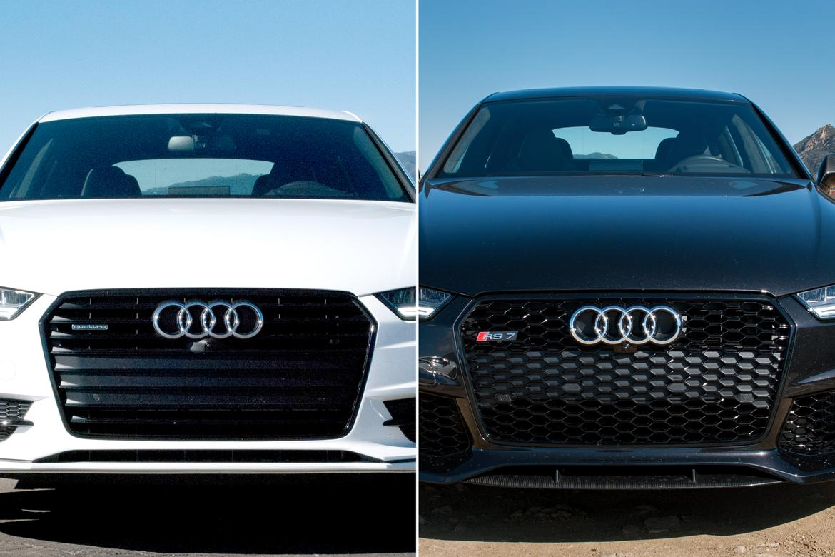 audi a7 versus rs 7 what you get for the extra money news. Black Bedroom Furniture Sets. Home Design Ideas