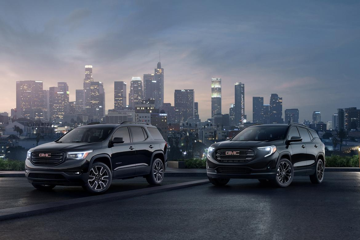 2019 GMC Acadia, Terrain Editions Reaffirm Black Is the ...