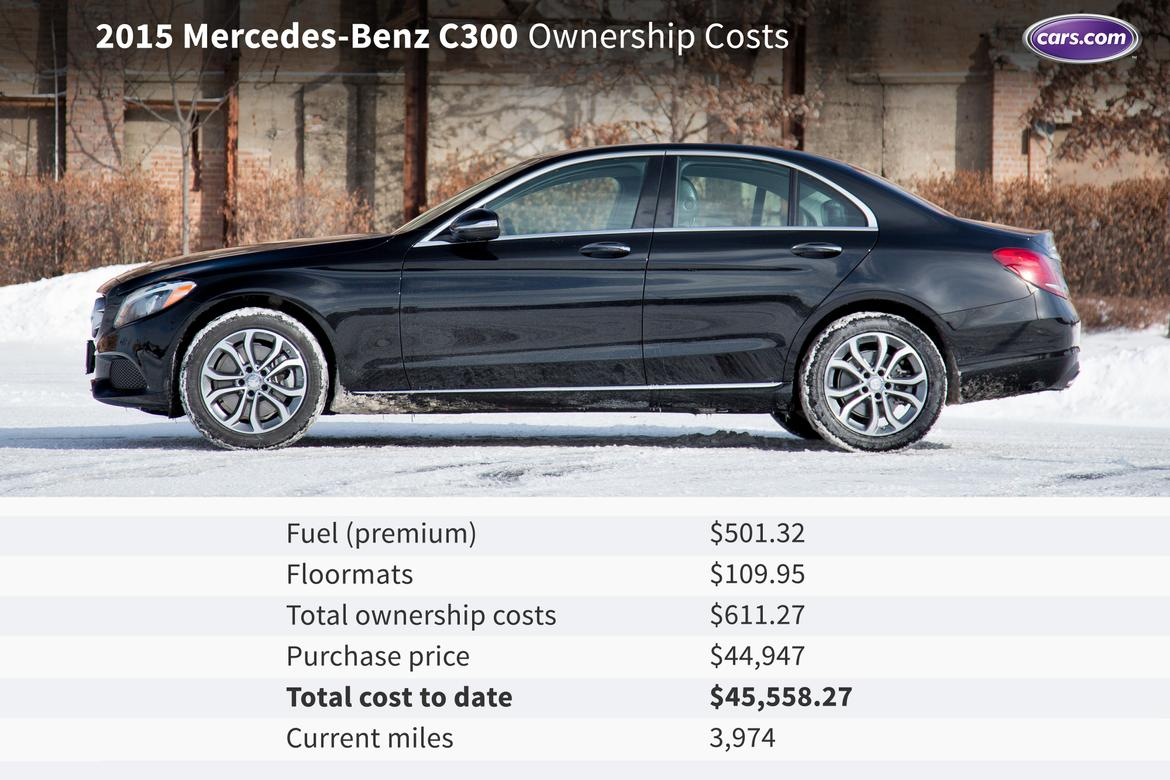 2015 mercedes benz c300 ownership costs first three for Mercedes benz c300 cost