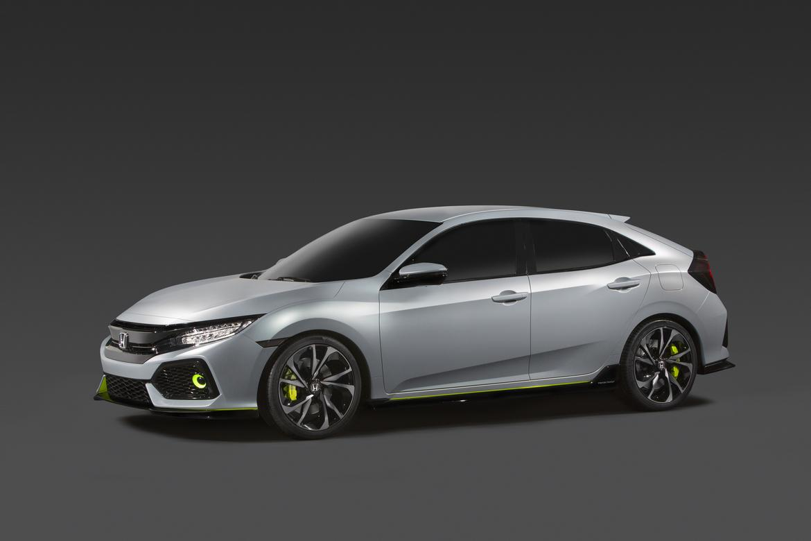 2017 Honda Civic Hatchback Prototype First Look News Cars Com