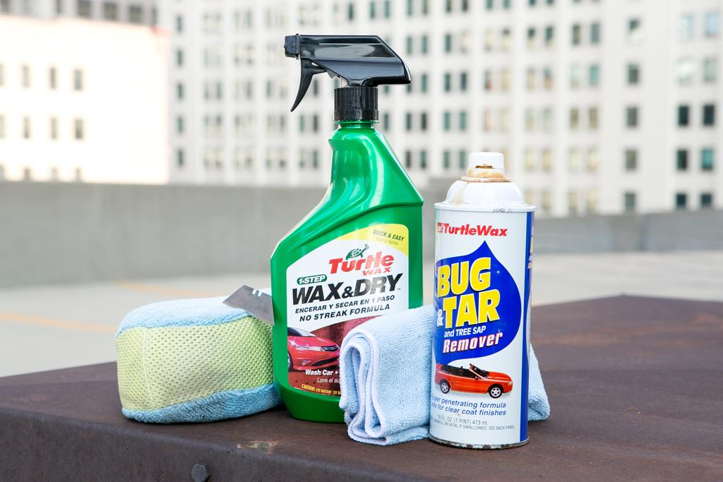 Tree sap remover for cars