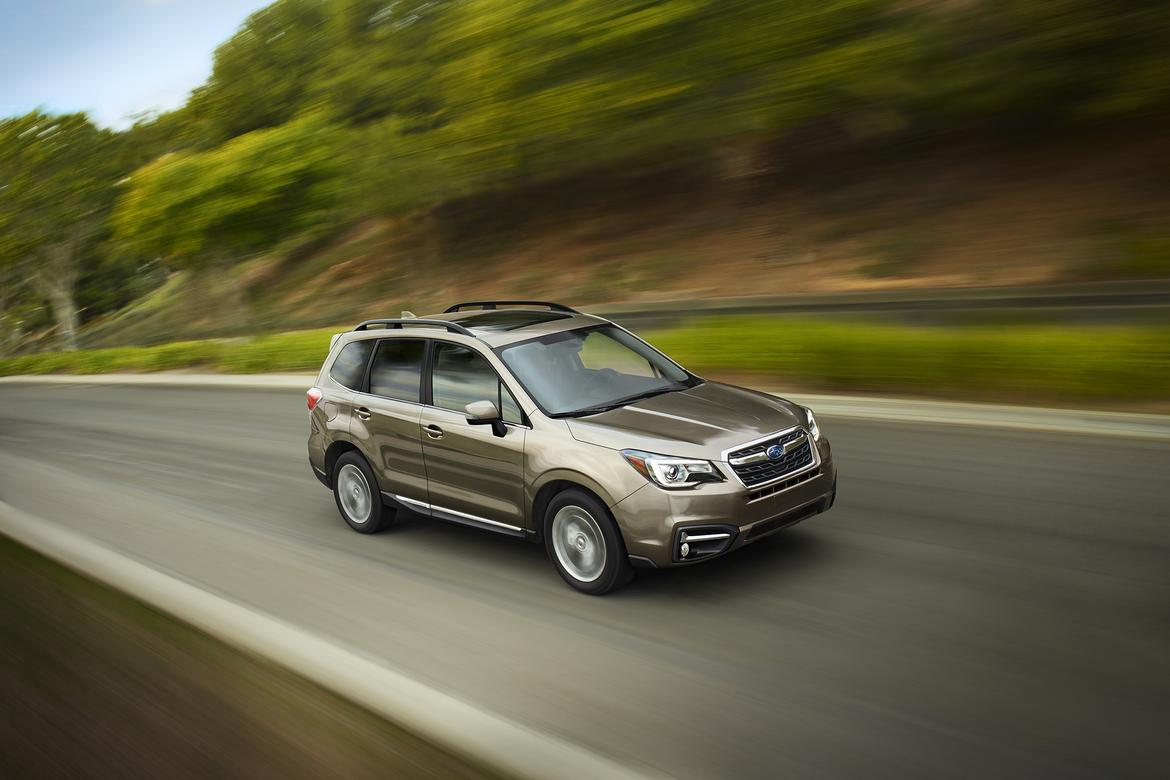 subaru updates 2017 forester 39 s styling safety features. Black Bedroom Furniture Sets. Home Design Ideas