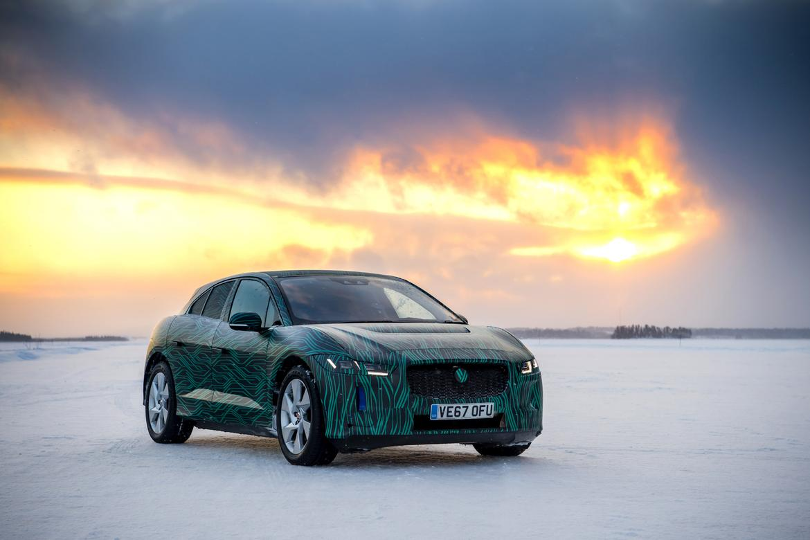 Jaguar I-Pace electric SUV in cold-weather testing in Sweden 10