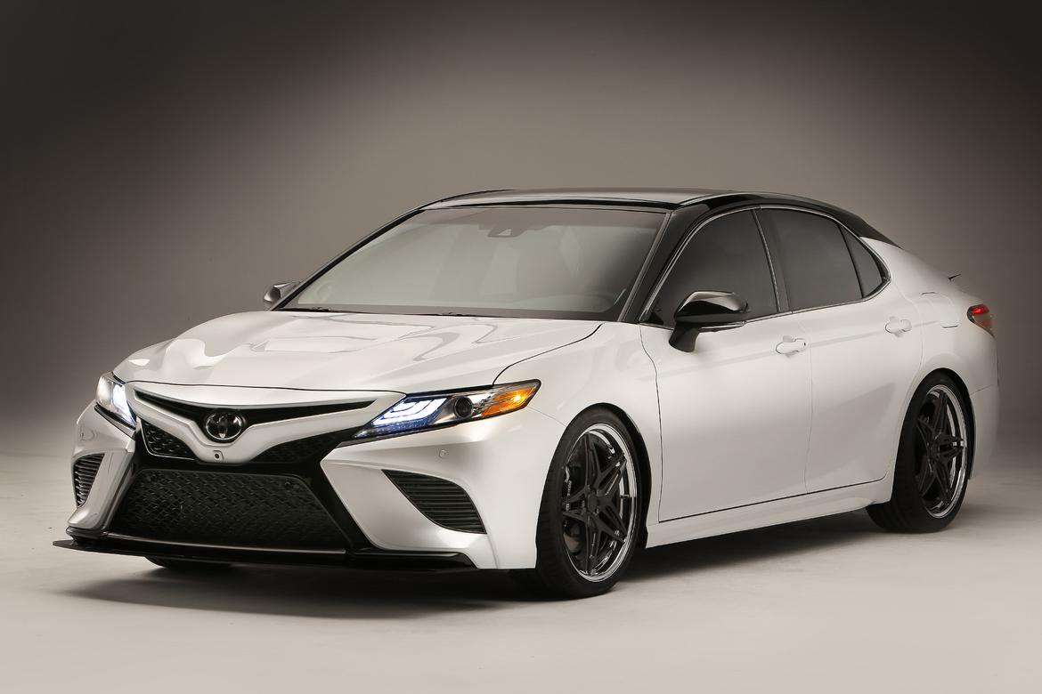 Lowered 2018 Camry >> Toyota Brings NASCAR-Themed Camrys, Speedy C-HR to SEMA | News | Cars.com