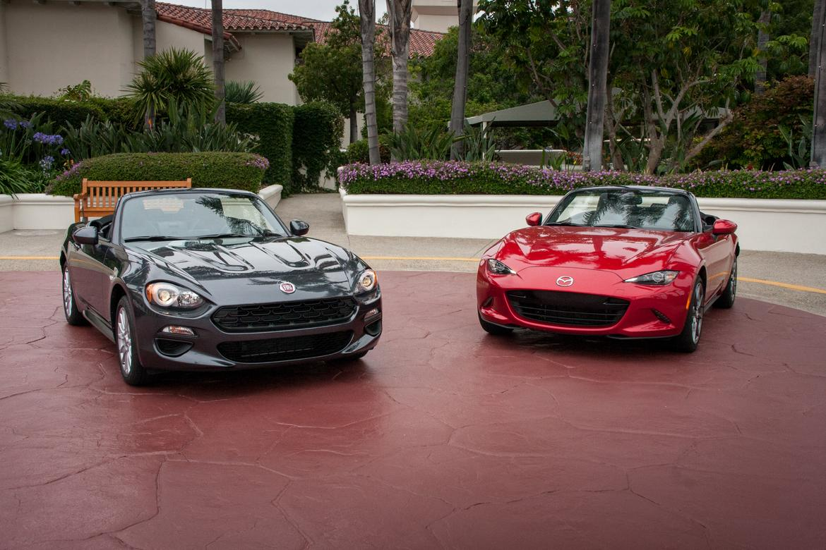 2017 Fiat 124 Spider And 2016 Mazda Miata Head To News Cars