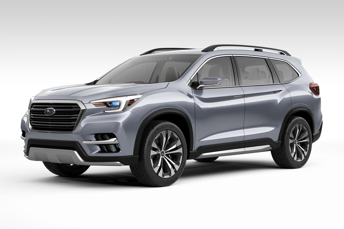 subaru unveils ascent suv concept in new york news. Black Bedroom Furniture Sets. Home Design Ideas