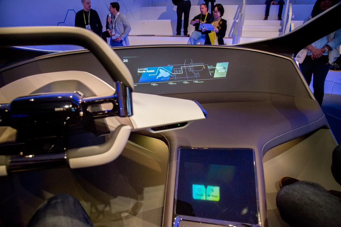 Bmw demonstrates holographic dash at ces 2017 news for Dash designs car interior shop