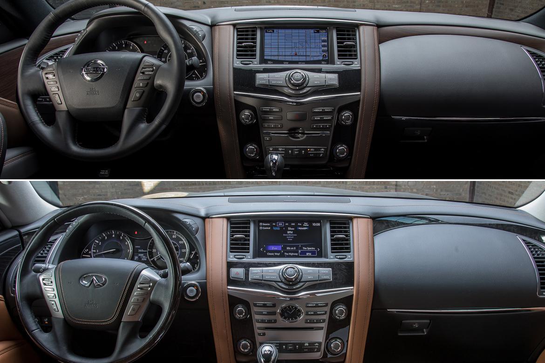 02 Nissan Armada Vs Infiniti Qx80 2018 Dashboard