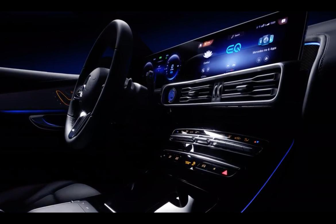 latest mercedes mystery model tease takes us inside the eq cabin