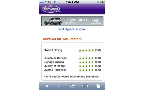 Cars Com Dealer Reviews >> Cars Com Dealer Reviews Now On Your Phone News Cars Com