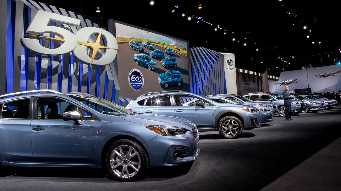 Subaru Lineup Goes Blue for Golden U.S. Anniversary: Photo ...