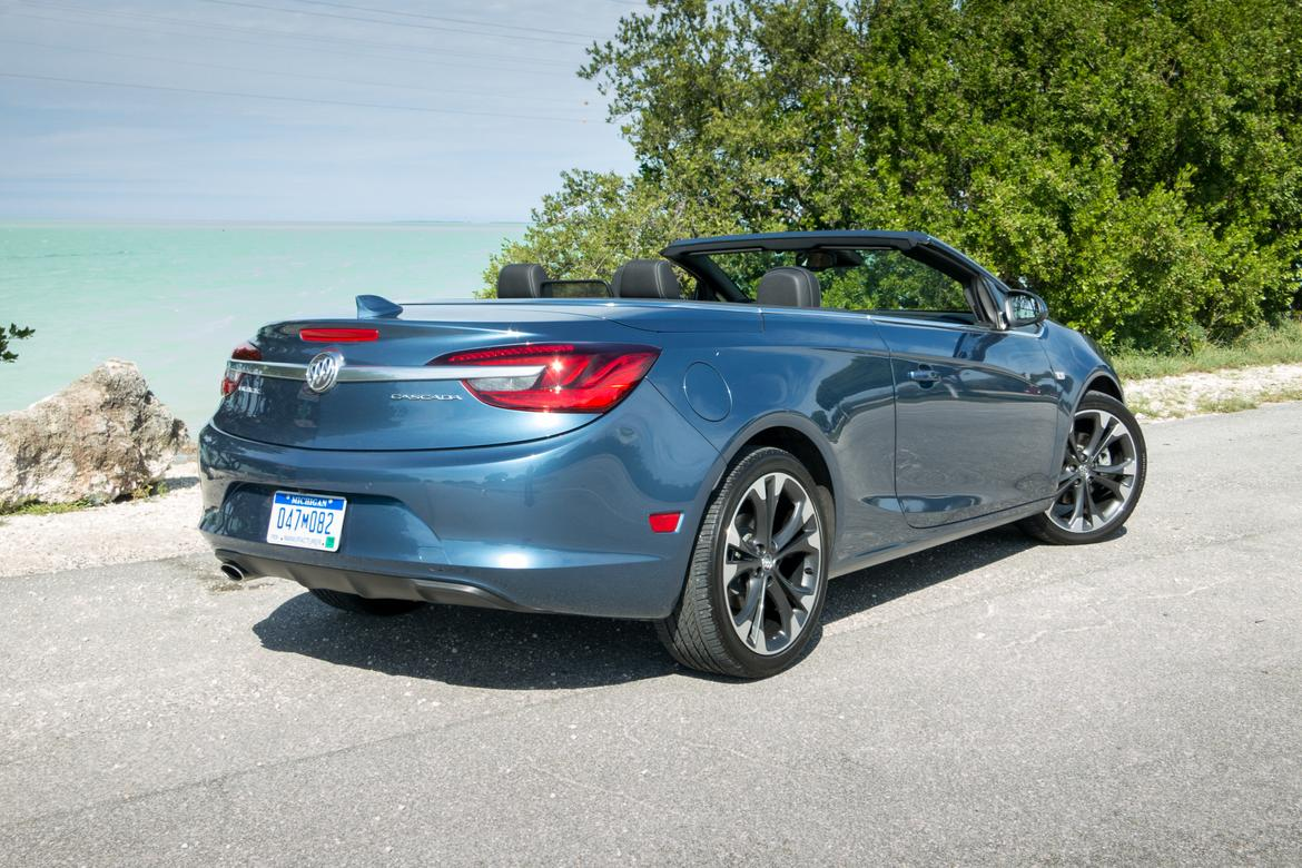 buick review motor cascada convertible front cars drive quarter first three trend