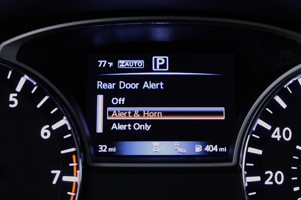Nissan Launches Rear Door Alert System