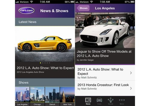 Carscom Launches New Auto Show App News Carscom - Car show app