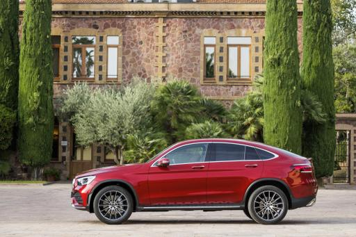 Mercedes Updates Swoopiest GLC for 2020, Still Calls It a 'Coupe'