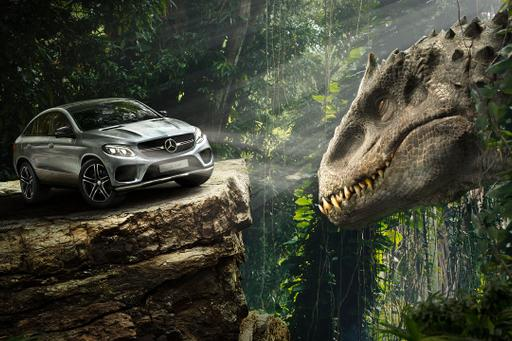 'Jurassic World' Gives 2016 Mercedes-Benz GLE Coupe a Dino-Size Boost