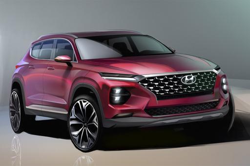 Hyundai Sculpts a Sleeker Santa Fe for 2019