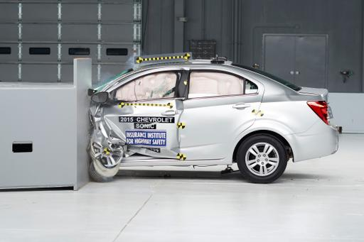 Updates to 2015 Chevrolet Sonic Earn It IIHS Top Safety Pick Nod