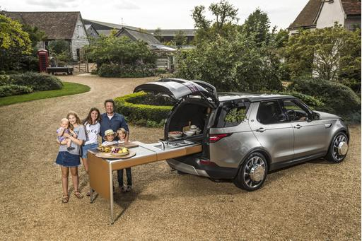 Jamie Oliver's Land Rover Discovery Makes Meals on Wheels, Literally