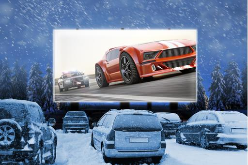 Car Culture: Watching Movies Is Cooler at Winter Drive-Ins