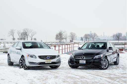 2015 Mercedes-Benz C300 Versus 2015 Volvo S60