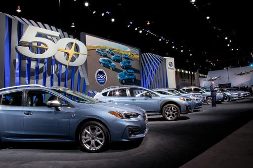 Subaru Lineup Goes Blue for Golden U.S. Anniversary: Photo Gallery