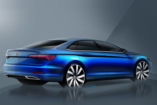 2019 Jetta Sketches Show VW Face With Audi Booty