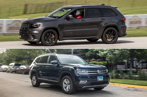 Can You Go Farther in a VW Atlas or a Jeep Grand Cherokee SRT Trackhawk?