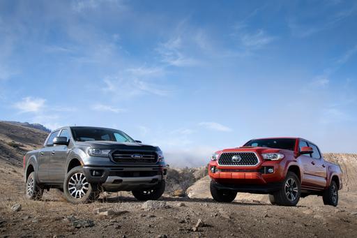 Ford Ranger Vs. Toyota Tacoma Now on PickupTrucks.com