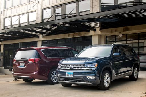 2017 Chrysler Pacifica Vs. 2018 Volkswagen Atlas: He Said, She Said