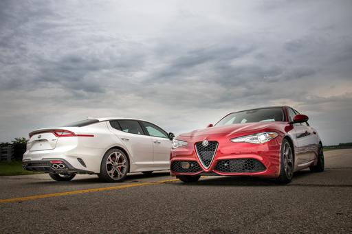 Kia Stinger GT Vs. Alfa Romeo Giulia Ti: Who Does Luxury and Lap Times Best?