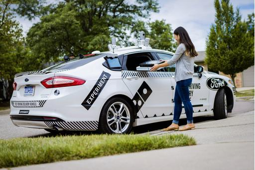 Self-Driving Fords to Deliver Domino's Pizza