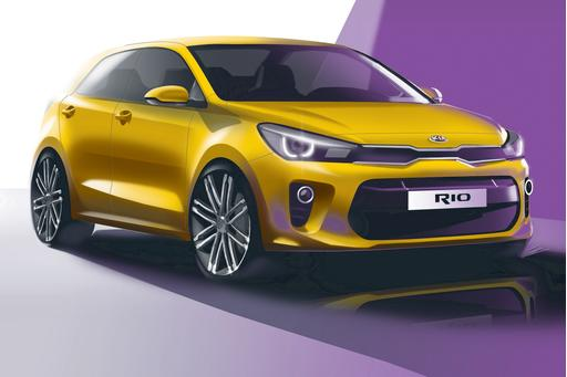 Kia Previews Redesigned Rio