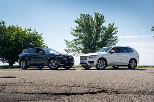 Luxury SUV Face-Off: Jaguar F-Pace Versus Volvo XC90