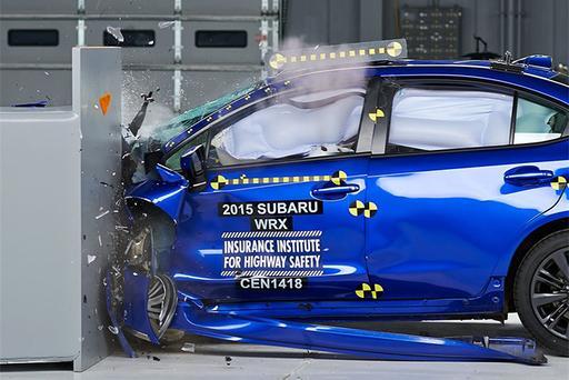 2016 Subaru WRX Earns IIHS' Top Safety Pick Plus Award