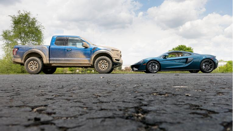 Weekend Toy Challenge: Ford F-150 Raptor Vs. McLaren 570GT