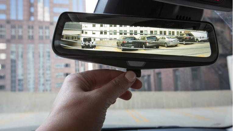 Reflections on Cadillac's Rear Camera Mirror